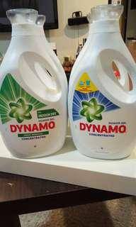 Dynamo stain removal power gel laundry detergent bottle