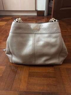 Coach Handbag (Gold Color)