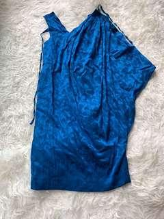 Rutzou silk party dress