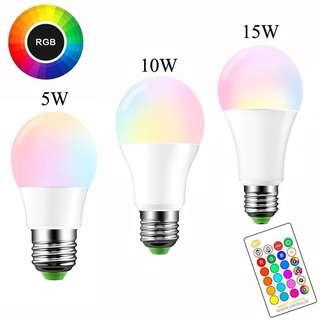 RGB Light Bulb! LED 16 Colors!  |PO|
