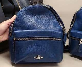 💯 Authentic Coach Mini Charlie Backpack in Blue
