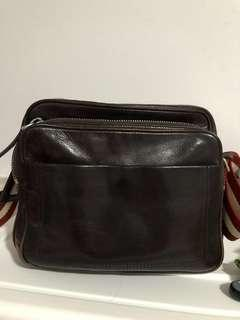 Authentic Bally full leather sling bag