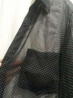 Outer/kemeja black keren😍 transparan