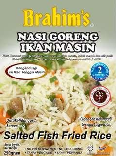 Nasi Goreng Ikan Masin Brahim (Ready To Eat)