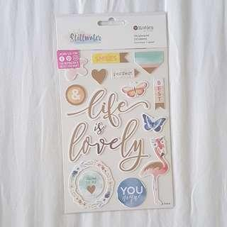 🚚 Craft Chipboard Stickers - Life is Lovely