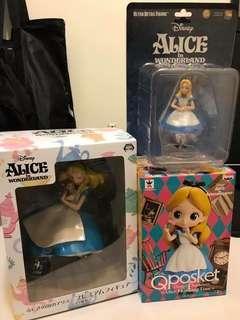 愛麗絲公仔三款ㄧ起賣