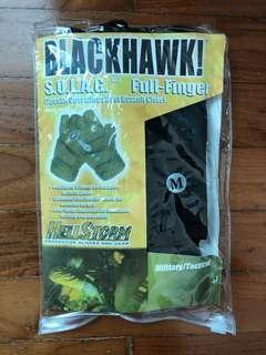 Brand new unused black fingerless gloves