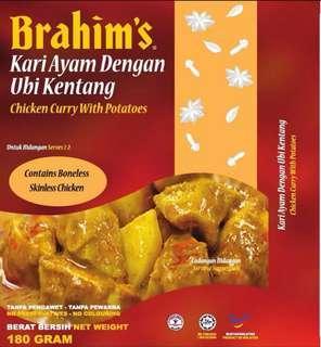 Kari Ayam Dengan Ubi Kentang Brahim (Ready To Eat)