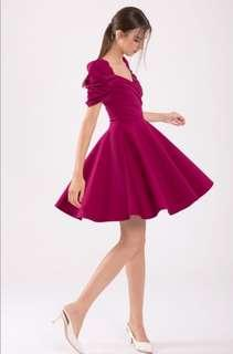 Doublewoot Detoliaf Dress - Pleated Draped Voluminous Skirting Flare Dress