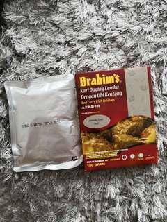 Kari Daging Lembu Bersama Ubi Kentang Brahim (Ready To Eat)