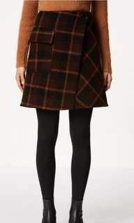 Scanlan Theodore Crepe Plaid Skirt × 1 MORO / 8