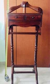 Teak wood coat hanger