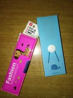 全新兒童筆盒 2個 pensil case *2
