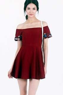 🚚 LOVET Amelia Embroidery Romper Dress