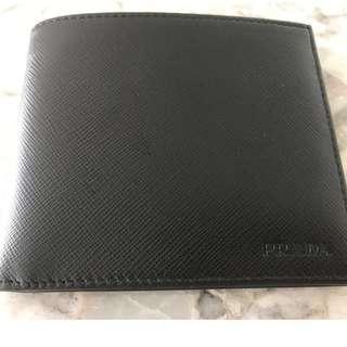 PRADA Saffiano Men's Leather Wallet - Black