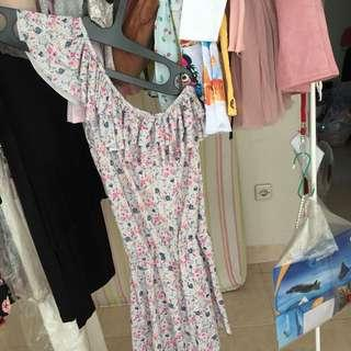 one shoulder dress baju pantai gaun pantai