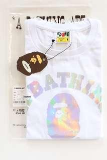 🚚 A BATHING APE HOLOGRAPHIC TEE