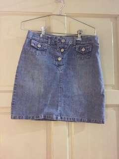 Girls Junior Denim Skirt