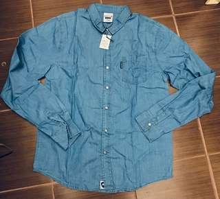 Macbeth denim long sleeves (light blue) for men. Size: M