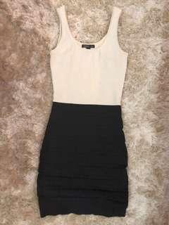 MNG B&W Bodycon Dress