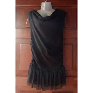 black & silver shimmery party dress