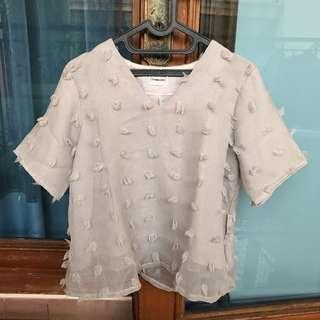 The Tameera Rubi Blouse Grey All size