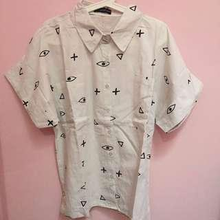 Kemeja Thrift Vintage, White