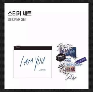 STRAY KIDS UNVEIL [Op. 03 : I am YOU]-OFFICIAL GOODS-STICKER SET+1 OFFICIAL POLAROID CARD (SEALED WITH ORIGINAL CONTENTS)