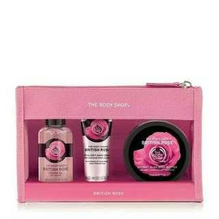 Original The Body Shop Trevel Set BRITISH ROSE