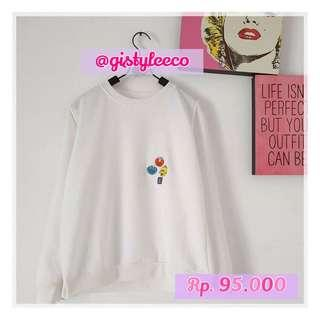 SWEATER ELMO 9897 WHITE