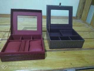 Faux Leather Jewelry Box