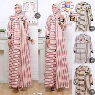 STRIPE BUTTONED PATCH BC3219