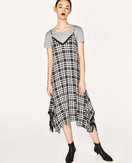 #MakeSpaceForLove ZARA Checkered Camisole Dress