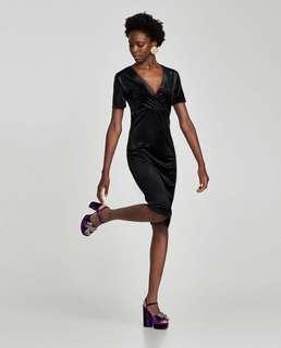 #MakeSpaceForLove ZARA Velvet Dress