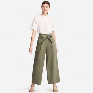 #MakeSpaceForLove UNIQLO Belted Linen Cotton Wide Pants