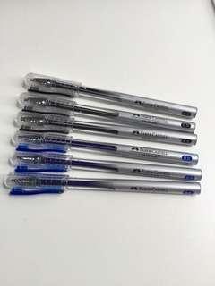 🚚 Castell Faber true gel 0.5 pen blue & black