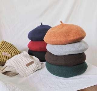 韓國製羊毛畫家帽