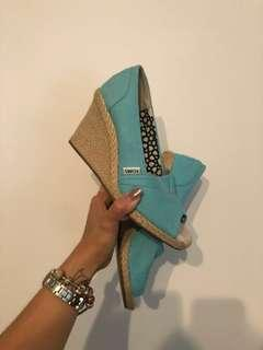 Toms Baby Blue Wedge