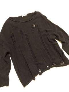 Zara oversized punk rock style black knitwear /sweater 黑色龐克風格冷衫