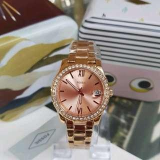 🚚 [Valentines Day Special] Fossil Scarlette Crystal Rose Dial Ladies Watch