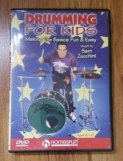 Drumming For Kids DVD by Sam Zucchini
