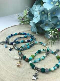 🚚 Handmade Gemstone Elastic Bracelets
