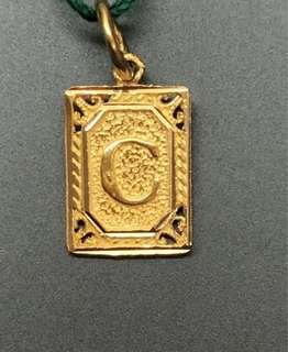 """Special Gift for someone? - Letter """"C"""" - 916 Gold, Locket ❤️❤️💙💙💚💚💛💛"""