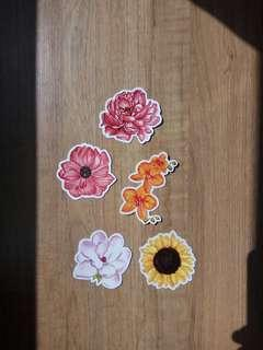 Watercolor Flower Stickers