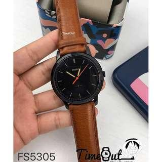 🚚 [Valentines Day Special] Fossil Mens The Minimalist Three-Hand Light Brown Leather Watch