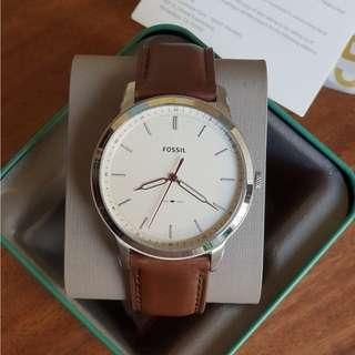 🚚 [Valentines Day Special] Fossil The Minimalist Three-Hand Brown Leather Watch
