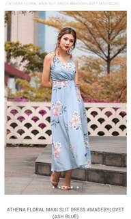 Lovet Athena Floral Maxi Slit Dress