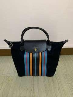 Longchamp limited edition Le Pliage wool bag