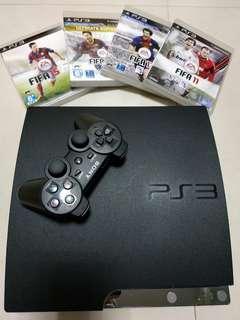 PS3 Slim 薄主機 320GB 1手制 送4正版 遊戲 2cable