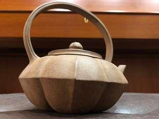 早期宜興紫砂 老舊提樑砂壺